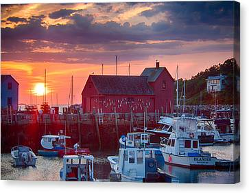 Dawn Over Rockport Massachusetts Canvas Print by Jeff Folger