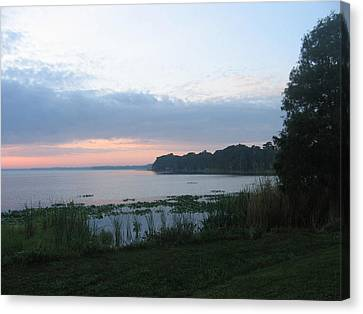 Canvas Print featuring the photograph Dawn Over West Cove by Frederic Kohli
