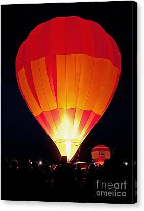 Dawn Patrol Balloon Fiesta Canvas Print by Jim Chamberlain