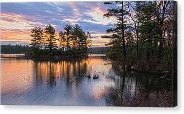 Dawn Serenity At Lake Tiorati Canvas Print