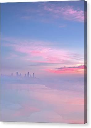 Dawn - Surfers Paradise Canvas Print by Mark Christian