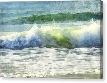 Canvas Print featuring the digital art Dawn Wave by Francesa Miller