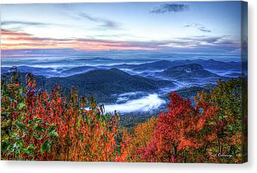 Dawns Early Light Looking Glass Rock Great Smoky Mountain Art Canvas Print