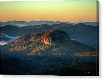 Smokey Mountains Canvas Print - Dawns Early Light Looking Glass Rock Sunrise Appalachian  Mountains Art by Reid Callaway