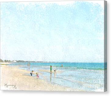 Day At The Beach Canvas Print by Mariarosa Rockefeller