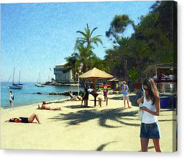 Day At The Beach Canvas Print by Snake Jagger