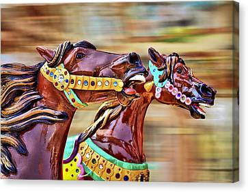 Day At The Races Canvas Print by Evelina Kremsdorf