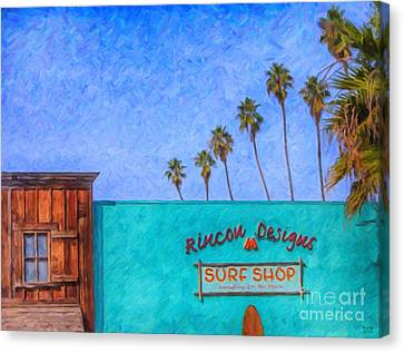 Day At The Surf Shop Canvas Print