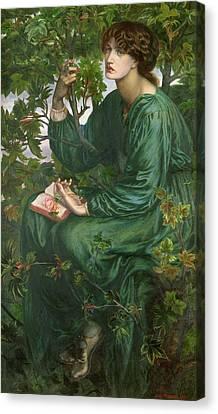 Rossetti Canvas Print - Day Dream by Dante Charles Gabriel Rossetti