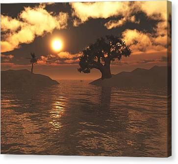 Day Dream Island Canvas Print by Jay Salton