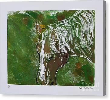 Bay Horse Canvas Print - Day Dreaming by Cori Solomon