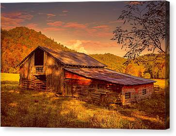 Day Is Done Canvas Print by Lorraine Baum