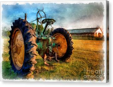 Day Is Done Watercolor Canvas Print by Edward Fielding