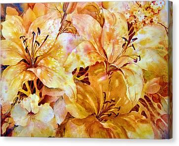 Day-lilies Canvas Print by Nancy Newman