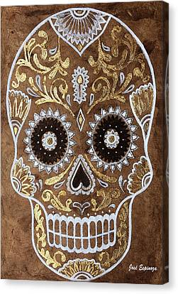 Canvas Print featuring the painting Day Of Death by J- J- Espinoza