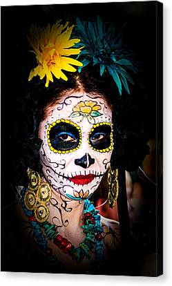 Day Of The Dead Eyes Canvas Print