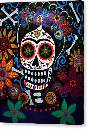 Day Of The Dead Frida Kahlo Painting Canvas Print