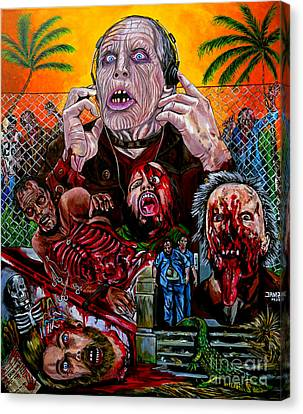 George Romero Canvas Print - Day Of The Dead by Jose Mendez