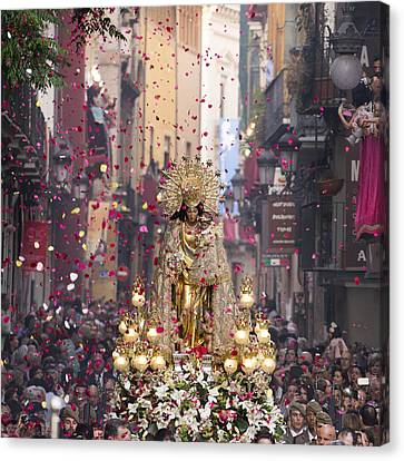Day Of The Virgen De Los Desamparados Canvas Print by For Ninety One Days