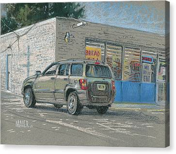 Day Old Bread Store Canvas Print by Donald Maier