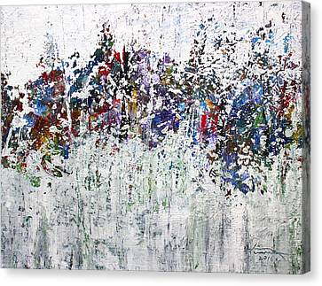 Pallet Knife Canvas Print - Day Twelve by Kume Bryant