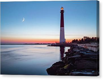 Canvas Print featuring the photograph Daybreak At Barnegat by Eduard Moldoveanu