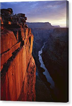 Colorado River Canvas Print - Sunrise At Toroweap by Mike Buchheit