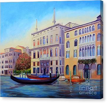 Daybreak At Venice Canvas Print by Shelia Kempf