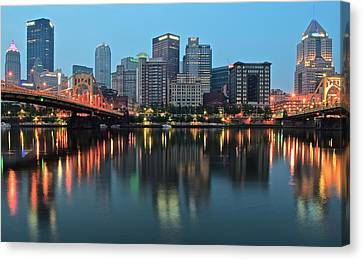 Upmc Canvas Print - Daybreak by Frozen in Time Fine Art Photography