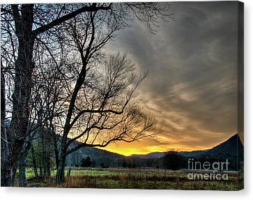 Daybreak In The Cove Canvas Print by Douglas Stucky