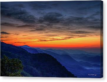 Smokey Mountains Canvas Print - Daybreak Pretty Place Chapel Greenville South Carolina Great Smoky Mountains Art by Reid Callaway