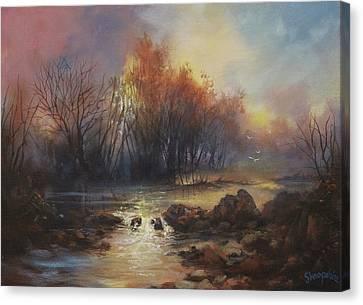 Daybreak Willow Creek Canvas Print