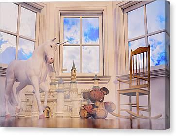 Daydream Evening Tint Custom Canvas Print by Betsy Knapp