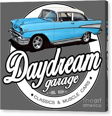 Daydream Garage With Bel Air Canvas Print