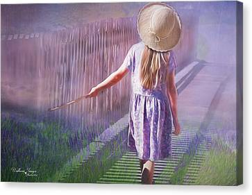 Canvas Print featuring the digital art Daydreamer by Wallaroo Images