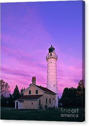 Keeper Canvas Print - Days End At Cana Island Lighthouse - Fm000003 by Daniel Dempster