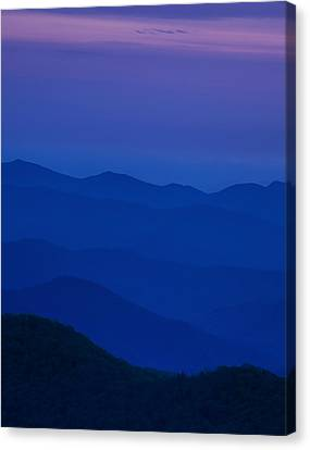 Day's End At The Blue Ridge Canvas Print by Andrew Soundarajan