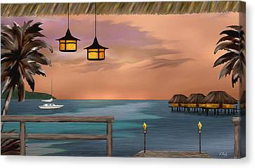 Days End Canvas Print by Gordon Beck