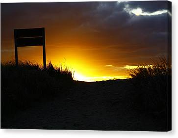 Days End Canvas Print by Greg DeBeck