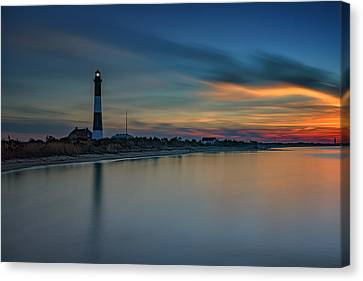 Day's End On Fire Island Canvas Print by Rick Berk