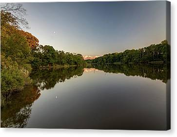 Canvas Print featuring the photograph Day's End On The Creek by Charles Kraus