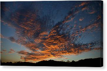 Day's Glorious Ending Canvas Print by Karen Musick