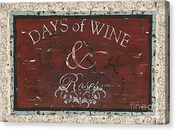 Cabernet Canvas Print - Days Of Wine And Roses by Debbie DeWitt