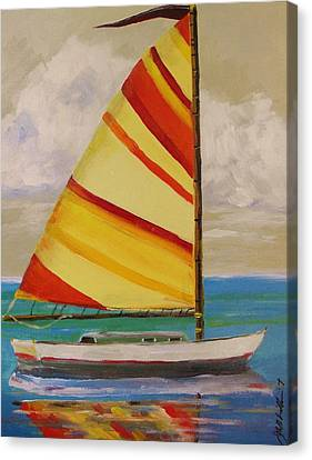 Daysailer By John Williams Canvas Print by John Williams