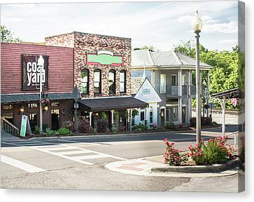 Canvas Print featuring the photograph Daytime In Old Town Helena by Parker Cunningham