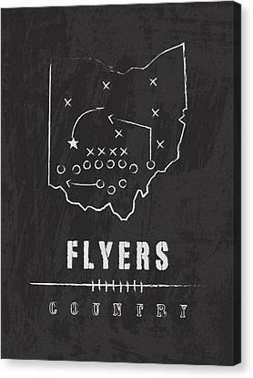 Dayton Flyers / Ncaa College Football Art / Ohio Canvas Print