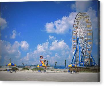 Daytona Beach Boardwalk Canvas Print by Mandy Shupp