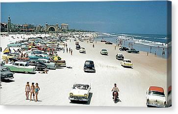 Daytona Beach Florida - 1957 Canvas Print