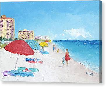 Daytona Beach Canvas Print by Jan Matson