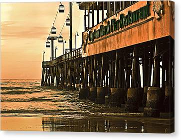 Daytona Beach Pier Canvas Print by Carolyn Marshall